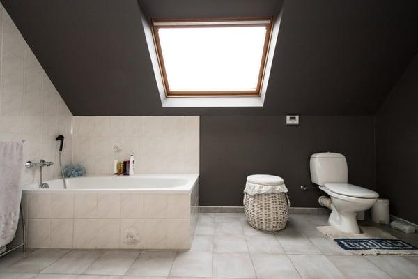 badkamerrenovatie voor foto