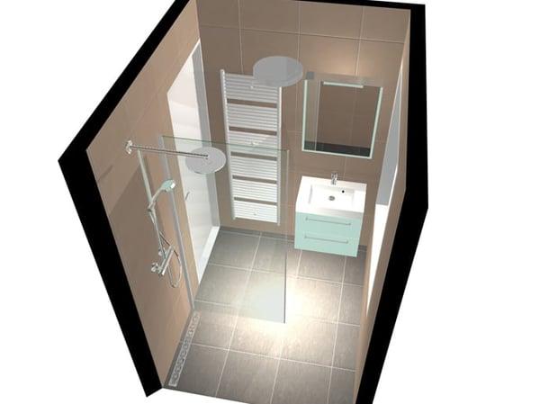 3D-ontwerp badkamer renovatie