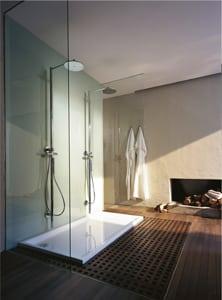 douche avec receveur duravit