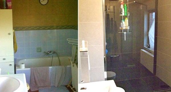 badkamerrenovatie realisatie bad vervangen inloopdouche Dagmar Buysse